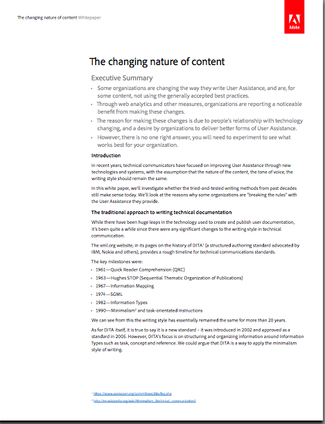 "white paper ""The changing nature of content"""