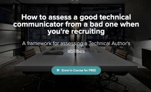 How to assess a good technical communicator from a bad one when you're recruiting