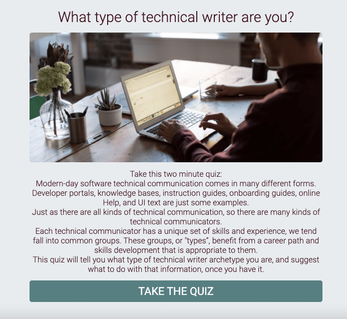 Link to What type of technical writer are you?